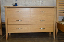 dresser 6 drawer solid wood