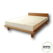 Zen Bed Frame in American Oak with Latex Mattress