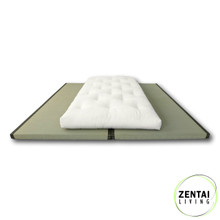 Tradional 'Plus' Futon 10cm All Cotton with Tatami Mat