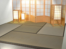 Tatami mat traditional tea room Tatami set up