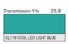 Lee Filters CL 118 Cool LED Light Blue Lighting Gel Sheet