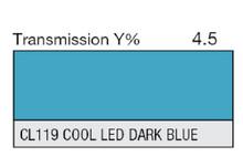 Lee Filters CL 119 Cool LED Dark Blue Lighting Gel Sheet