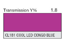 Lee Filters CL 181 Cool LED Congo Blue Lighting Gel Sheet