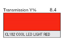 Lee Filters CL 182 Cool LED Light Red Lighting Gel Sheet