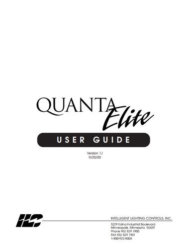 ILC Quanta Elite User Manual