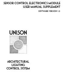 ETC Unison sensor control electronics module user guide