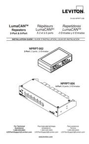Leviton Lumacan Repeaters Manual