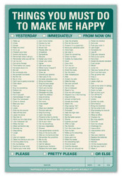 Things You Must Do to Make Me Happy
