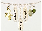 Courage Wisdom Charm Necklace