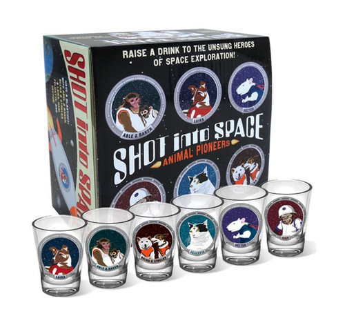 Shot into Space Shot Glass Set by The Unemployed Philosophers Guild