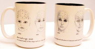 Phrenology Head Mug