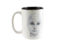 Phrenology Head Mug - Adult