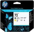 HP No.72 Matt Black and Yellow Printhead