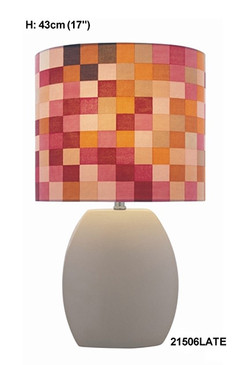 Beige/Multi Table Lamp