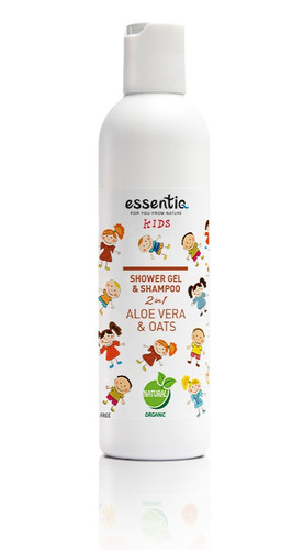 Shower Gel and Shampoo Kids 2 in 1 Aloe Vera & Oats 250ml
