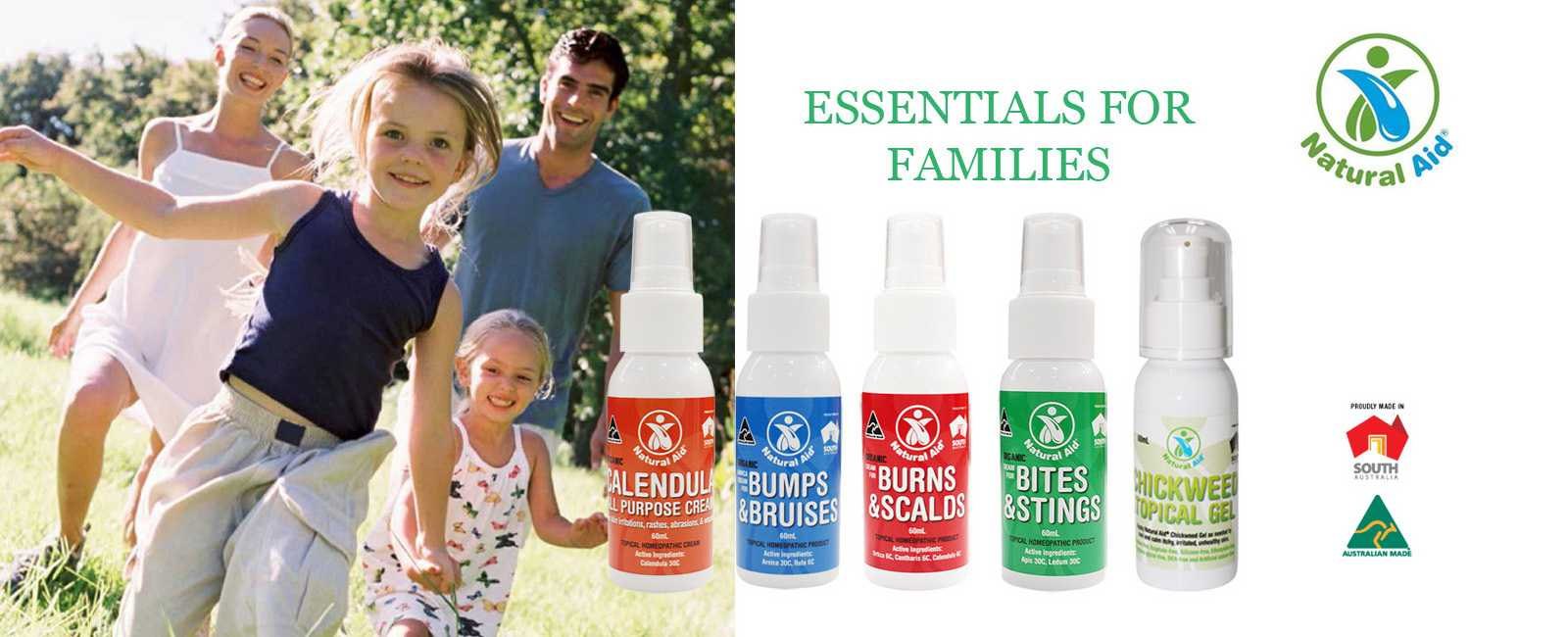Natural Aid Essentials for families