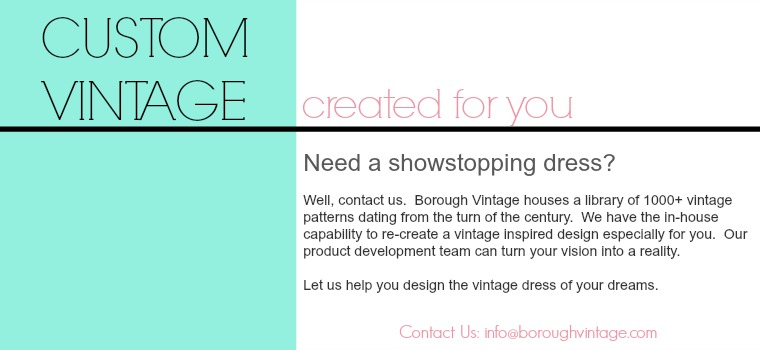 custom vintage dresses created for you