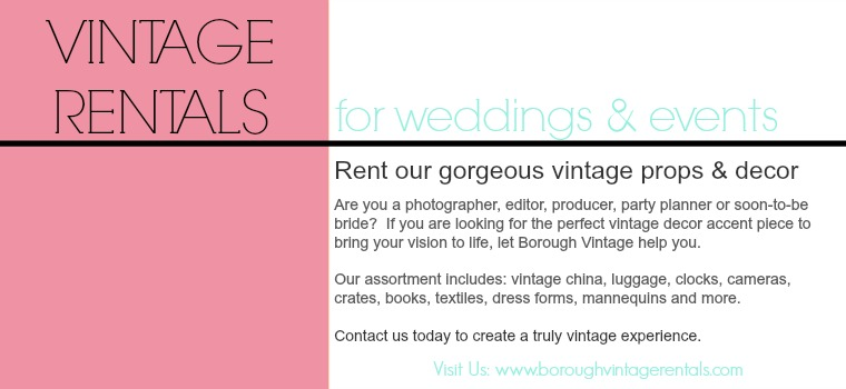 vintage rentals for weddings and events
