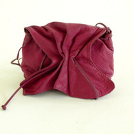 Vintage 1980s Carlos Falchi Fuchsia Buffalo Bag