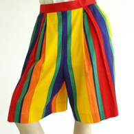 SOLD Vintage 1980s 90s Rainbow Culotte Short