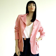 Vintage 1970s Red Candy Stripe Blazer Jacket