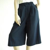 SOLD Vintage 1970s Evan Picone Navy Calf Short Culotte