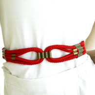 Vintage 1980s Red Cord Cinch Belt