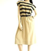 Vintage 1970s Leslie Fay Stripe Dress