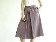 Vintage 1970's/1980's Barry Bricken Lilac Midi Pleat Skirt