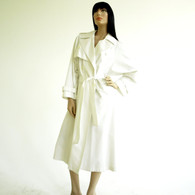 Vintage 1980s White Spy Trench Coat