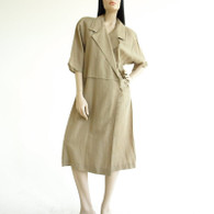 Vintage 1980s Jackie Bernard Linen Dress