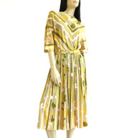 SOLD Vintage 1960s J. Harlan Mitered Stripe Dress NWT