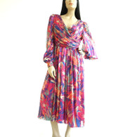 Vintage 1980's Morton Myles Silk Evening Dress