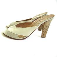 DESIGNER Vintage Charles Jourdan Mule Cork Sandal