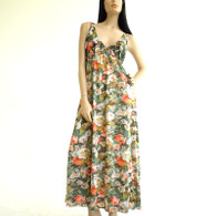 Vintage 1960s/1970s Vanity Fair Floral Poly Maxi