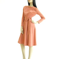 Vintage 1970s Jerell Coral Disco Dress