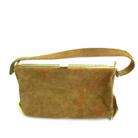 Vintage Air Step Tan Suede Purse