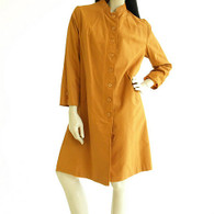 Vintage Burnt Orange All Weather Straight Coat