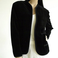 Vintage Butte Black Velvet Cardigan Blazer