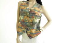 Vintage 1980s Anxiety Aztec Print Vest