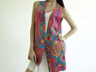 Vintage 1990s Chico's Design Aztec Multicolor Vest