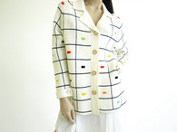 Vintage 1960s Lilly of california Cream Cardigan Sweater