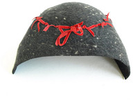 Vintage Charcoal Gray Felt Cloche Hat