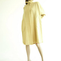 Vintage 1960s Swing Coat - Monte Saro &amp; Prozan Cream Boucle Cape