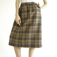 Vintage 1960's/1970's Pendleton Wool Plaid Skirt