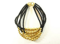 Vintage Costume Jewelry - 5 Strand Black Choker at Borough Vintage.