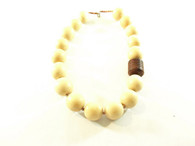 Vintage Chunky Wood Beaded Necklace at Borough Vintage.