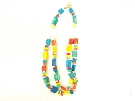 Vintage Dip Dyed Stone Necklace at Borough Vintage.