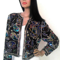 Vintage 1970's Beaded Blazer - Sequin Jacket