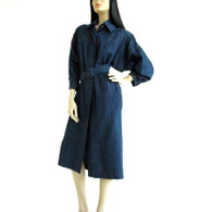 Vintage 1980s Rickie Freeman Denim Dress